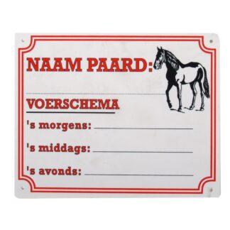 Bord: paard/voerschema